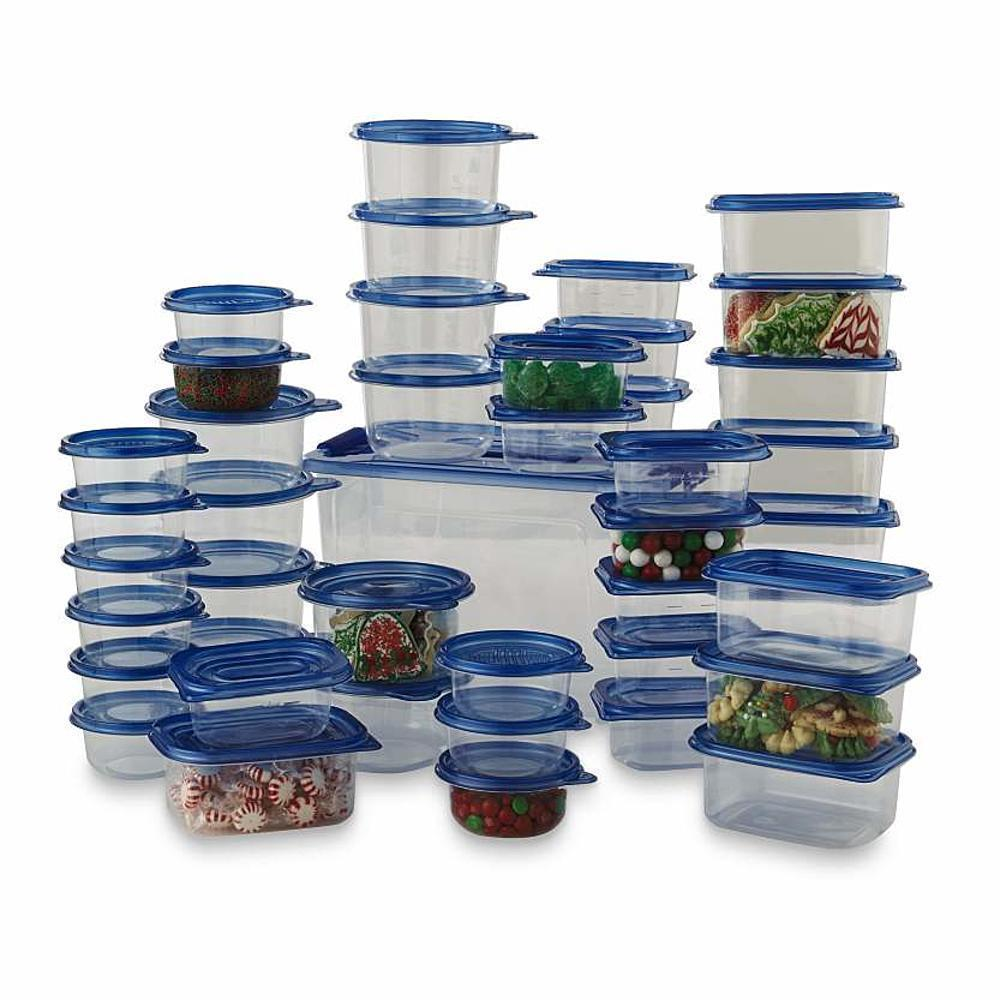88 Pcs Food Storage Container Set Plastic Bowls With Lids Microwave Safe Kitchen 1