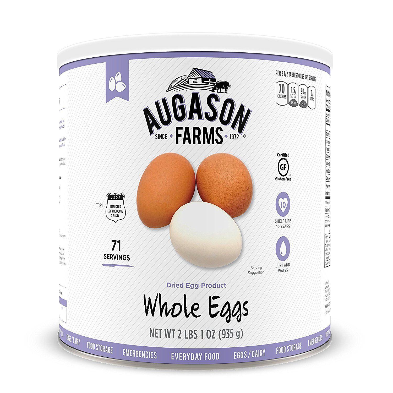 Augason Farms Whole Egg Emergency Food Storage #10 Can 1