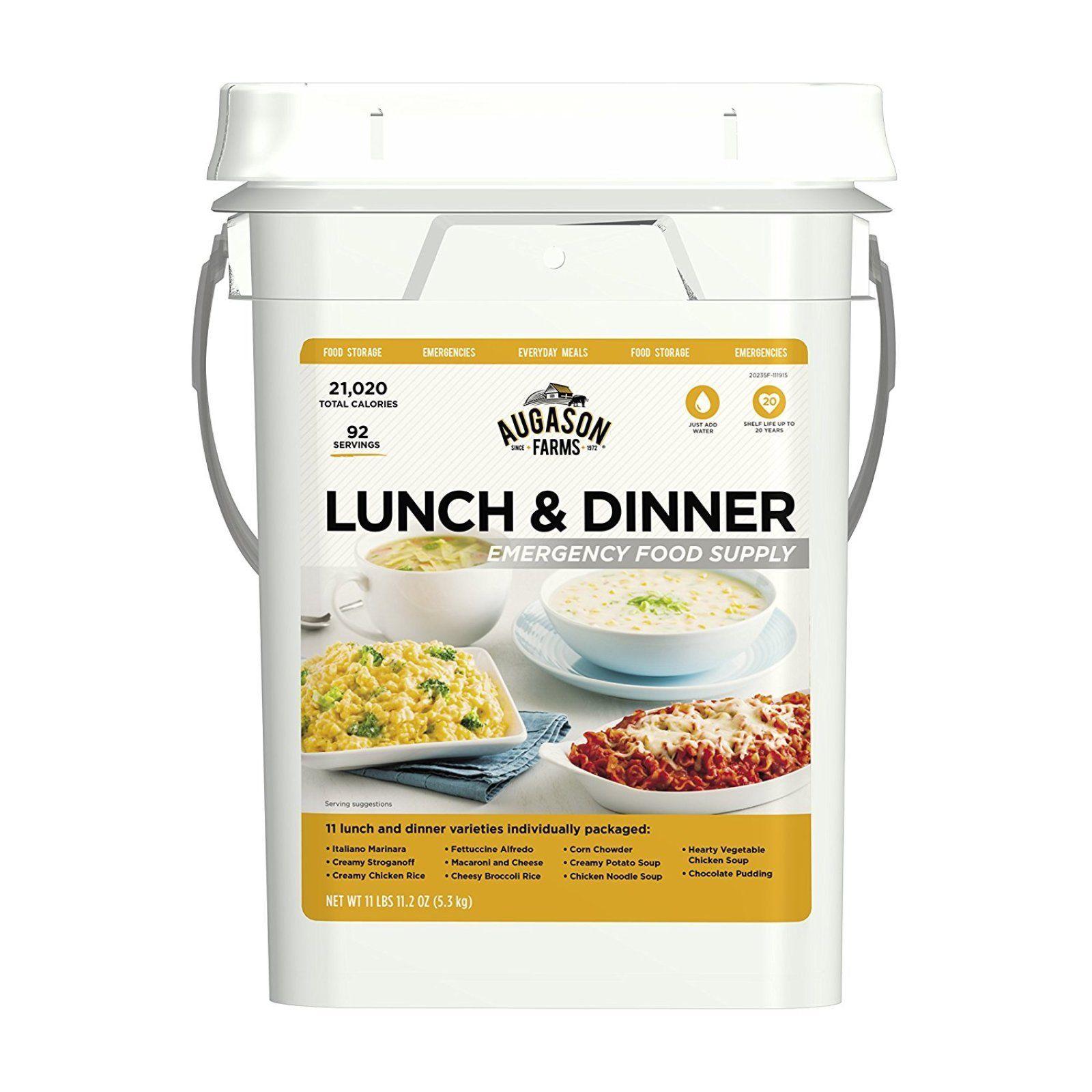 Emergency Food Supply Bucket Survival Kit Pail Freeze Dried Storage 92 Servings 1