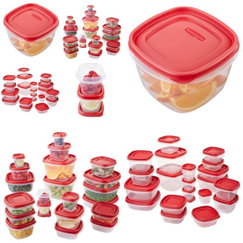 Rubbermaid 42 Piece Easy Lid Food Storage Organization Bpa Free Plastic Containe 1