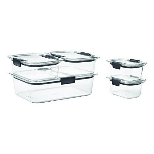 Rubbermaid Food Storage Container Set Leak Proof Lids Left Over Meal Prep 5 Pack 1