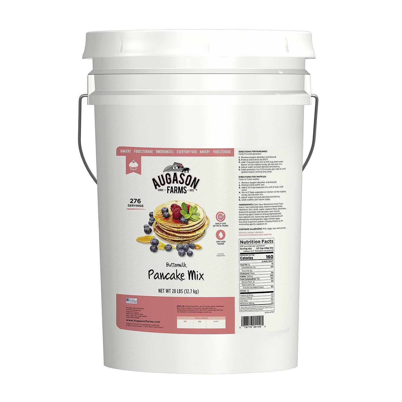 Augason Farms Buttermilk Pancake Mix - 28 lb Bucket Emergency Food Storage 1
