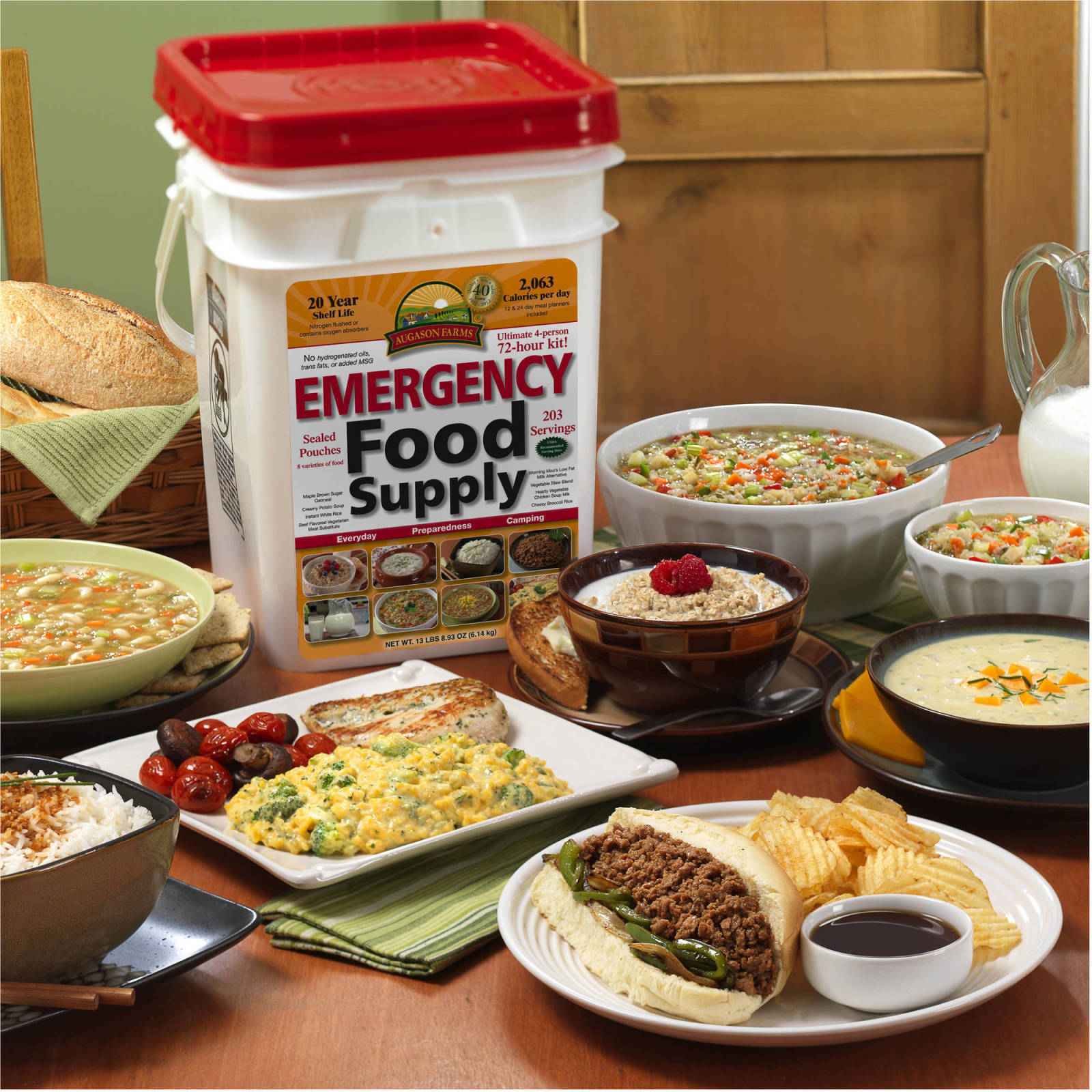 Emergency Food Supplies Augason Farms 176 Servings Storage Survival Bucket 1