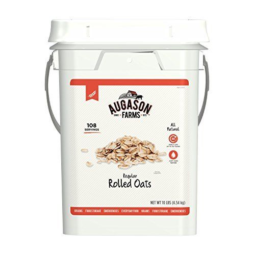 Rolled Oats Augason Farms Emergency Food Supplies Storage Survival Bucket 10 lbs 1