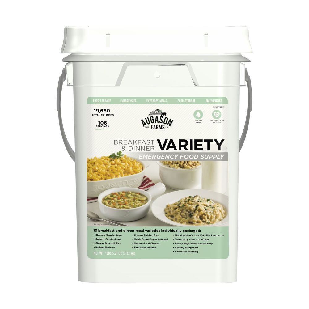 106 Meals VARIETY Food Storage Emergency Supply Bucket Rations Kit Survival mre 1