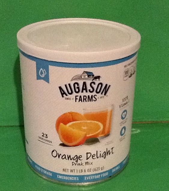 Augason Farms Orange Delight Drink Mix Food Storage Prepper Emergency Survival 1