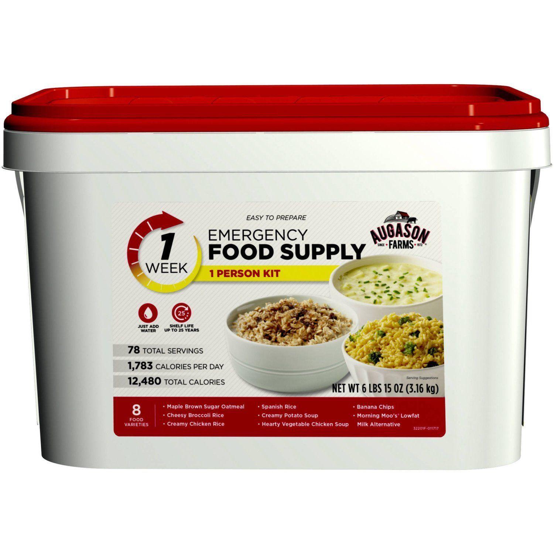 Emergency Food Supplies Augason Farms 78 Servings Storage Survival Bucket Meals 1