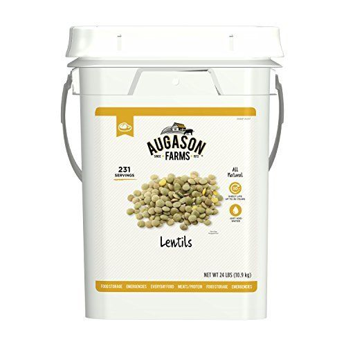 Lentil beans Emergency Bulk Food Storage 4 gallon Pail 231 Servings 1