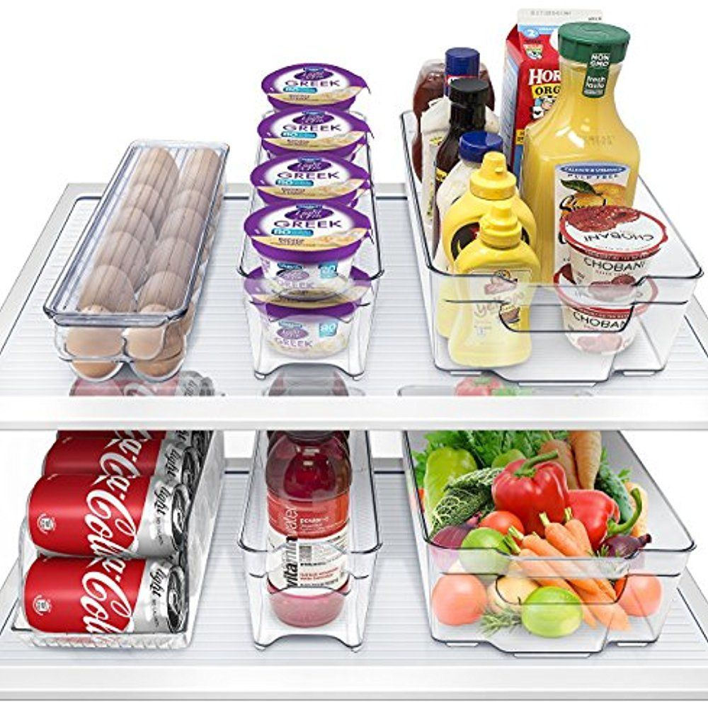 Sorbus Fridge Bins and Freezer Organizer Refrigerator Storage( 6 Pack Set) 1