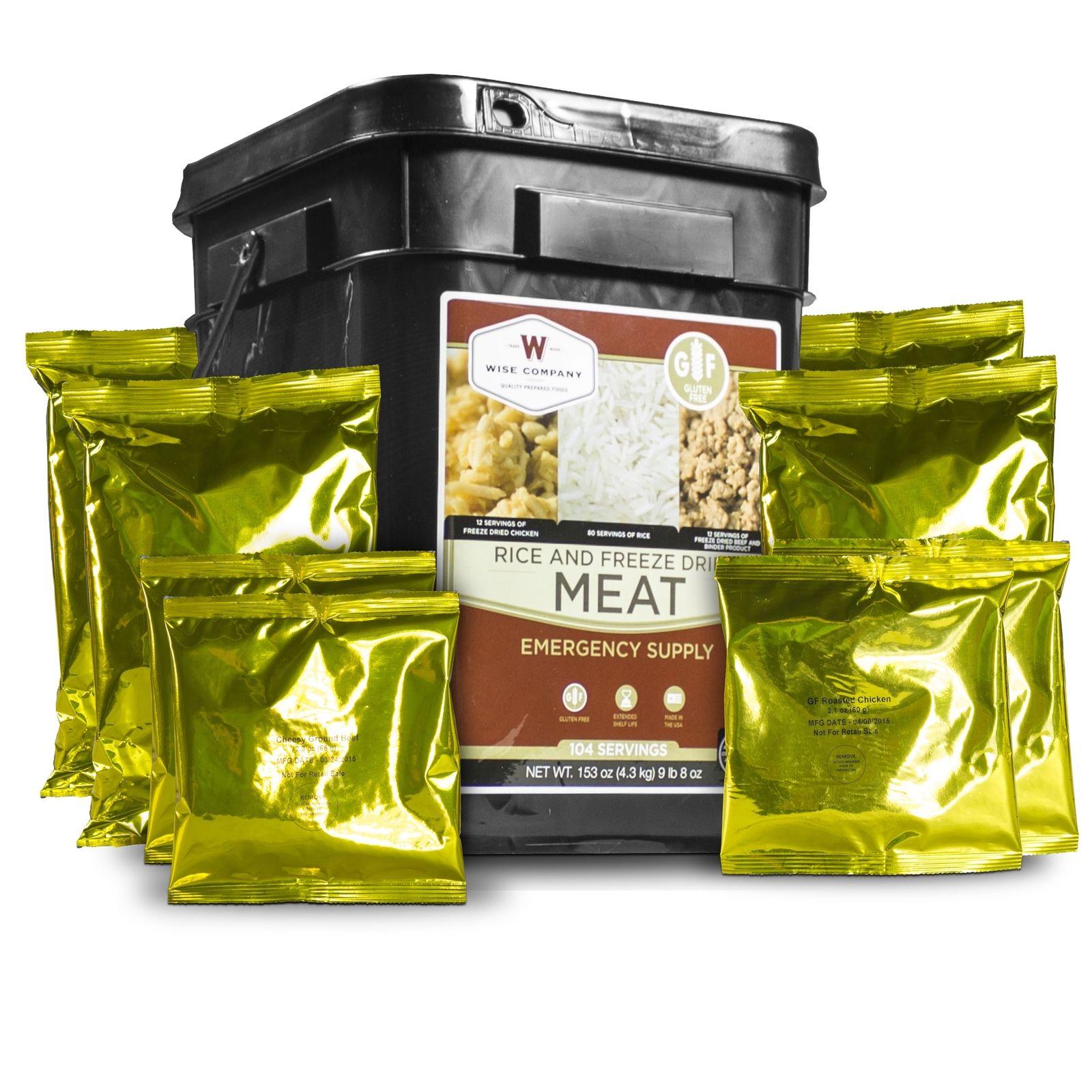 Emergency Survival Food Storage Gluten Free Meat Rice Supply Kit 104 Servings 1