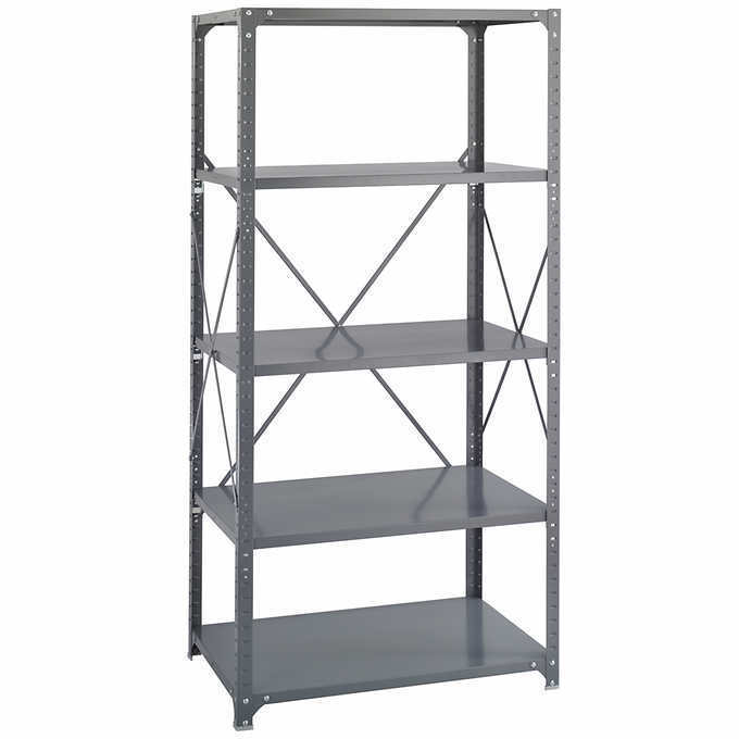 Shelving Rack Food Storage Assembled Durable Steel Double Sided Compression Clip 1