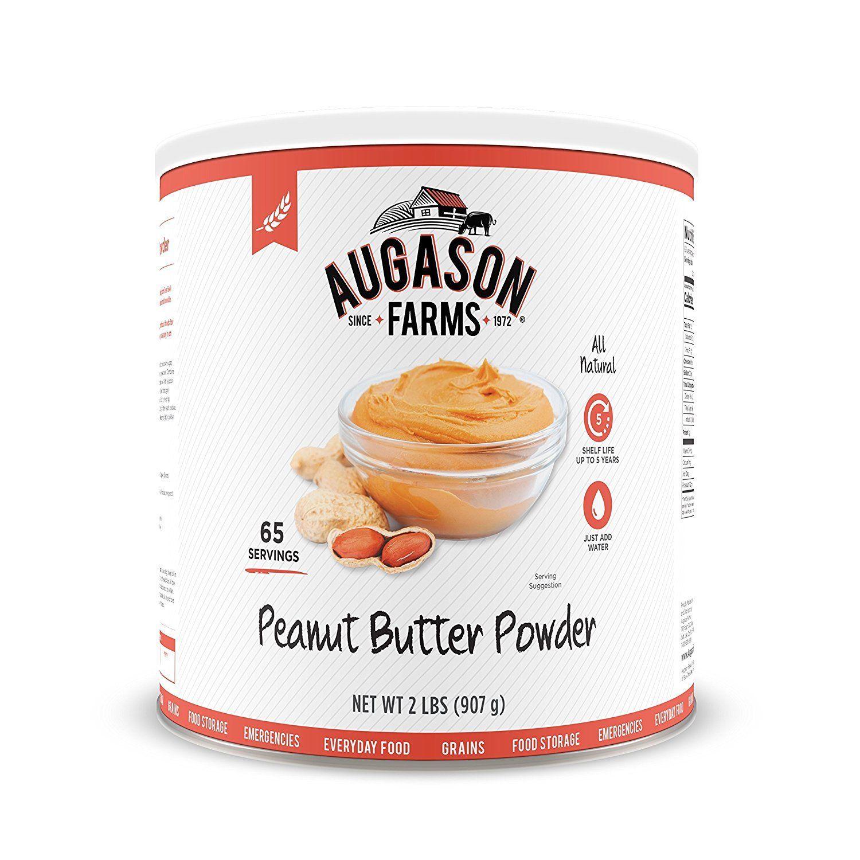 Augason Farms Peanut Butter Powder 2 lbs No. 10 Can Emergency Food Storage 1
