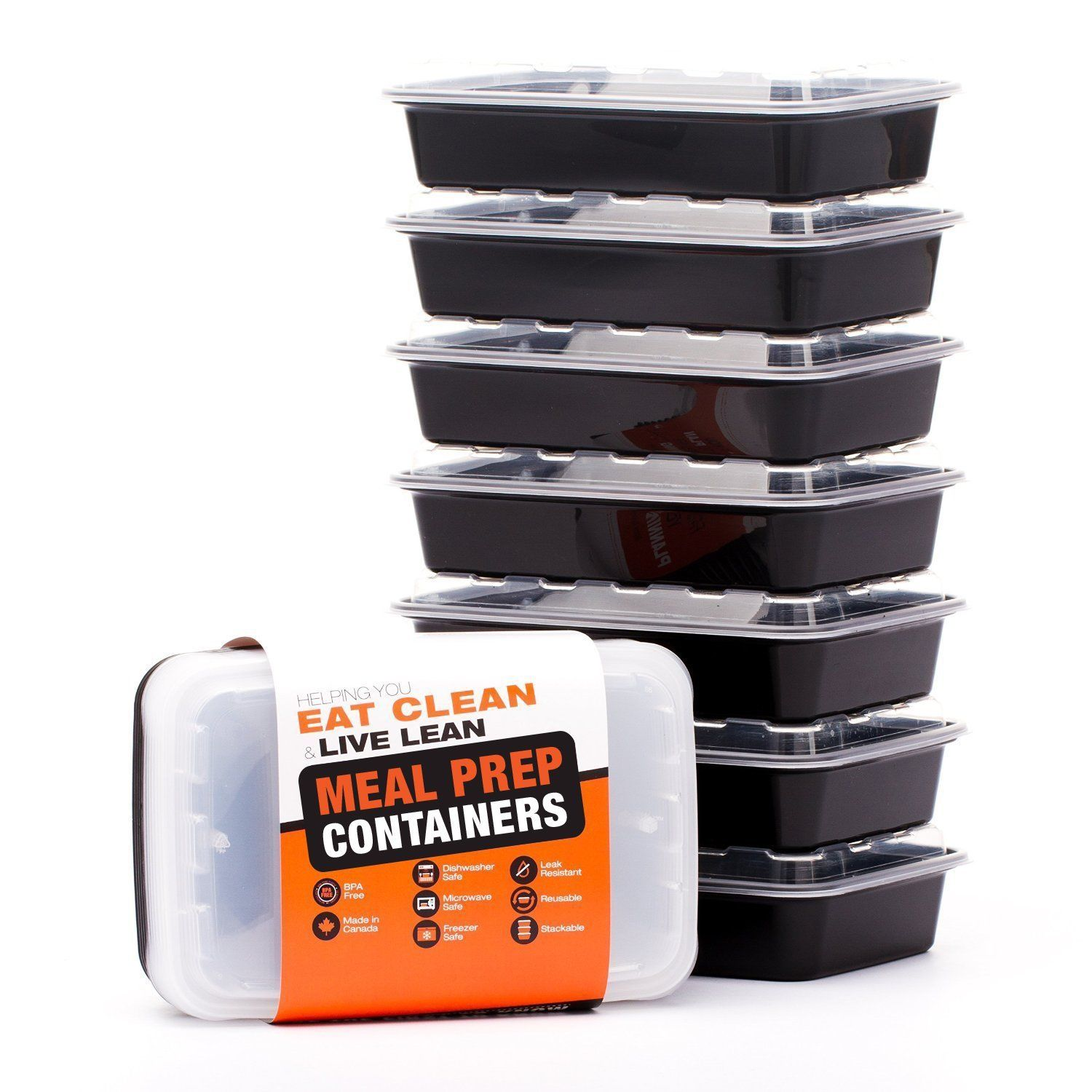 LIFT Certified BPA-Free Reusable Microwavable Meal Prep Containers with Li.. 1