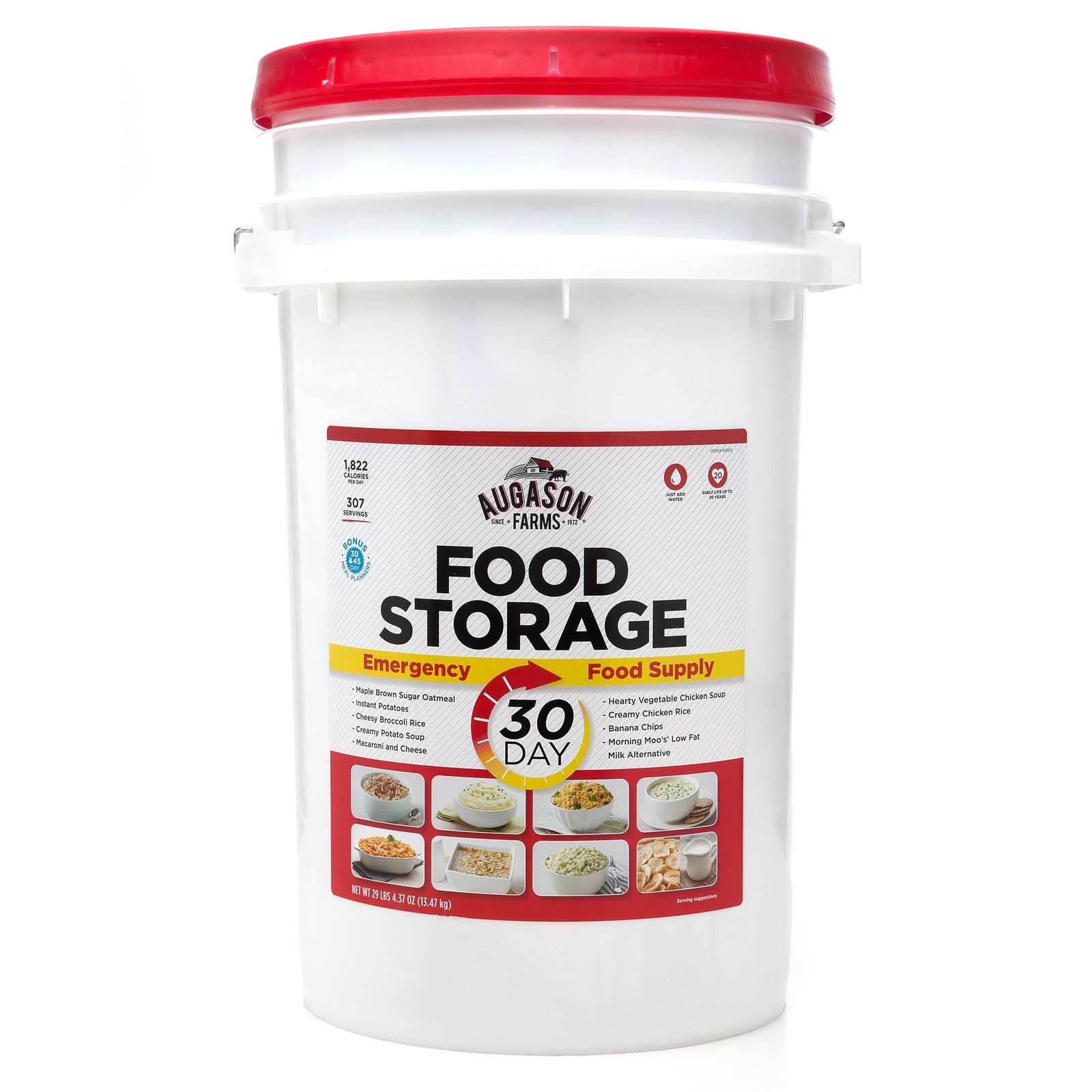 1 Month Emergency Augason Farms Food Bucket Supply MRE Survival Meal Storage Kit 1