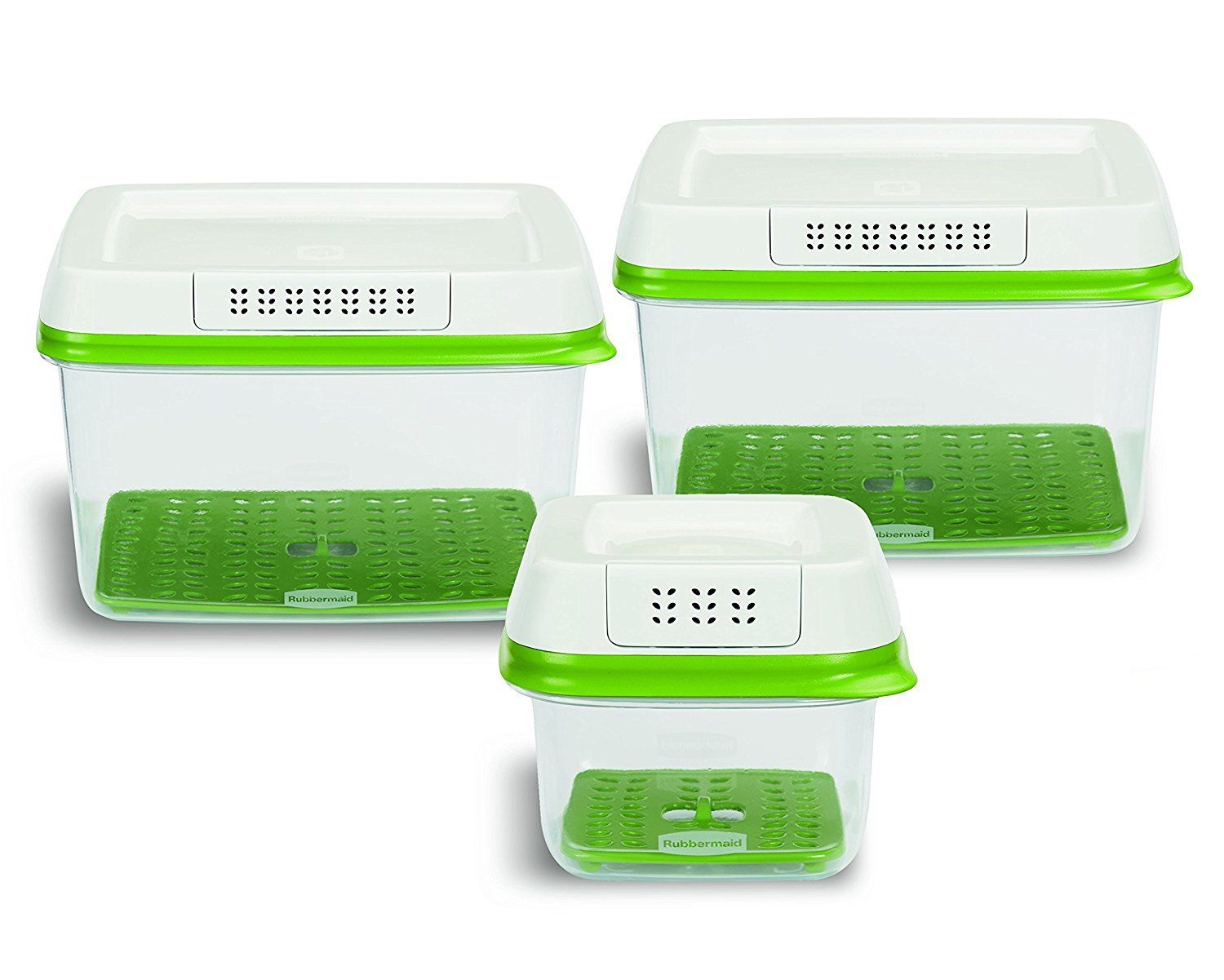 Rubbermaid FreshWorks Produce Saver Food Storage Containers, Set of 3 NEW NIB 1