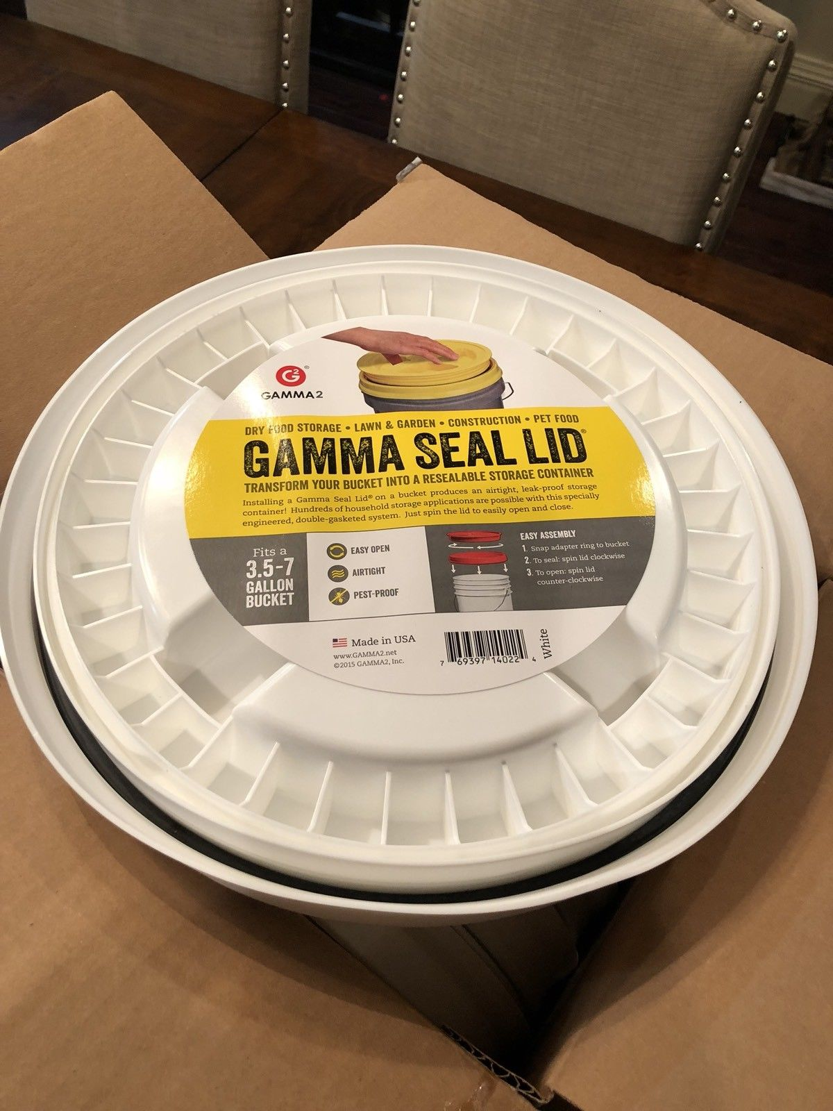 6-PACK! Gamma Seal Screw On Lids 3.5 -7 Gallon 5 Bucket Food Storage Airtight 1