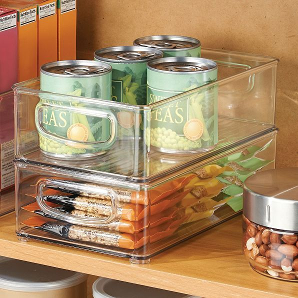 Kitchen Food Storage Organizer 2Pc Set Bin Drawer Cabinet Shelf Fridge Container 1