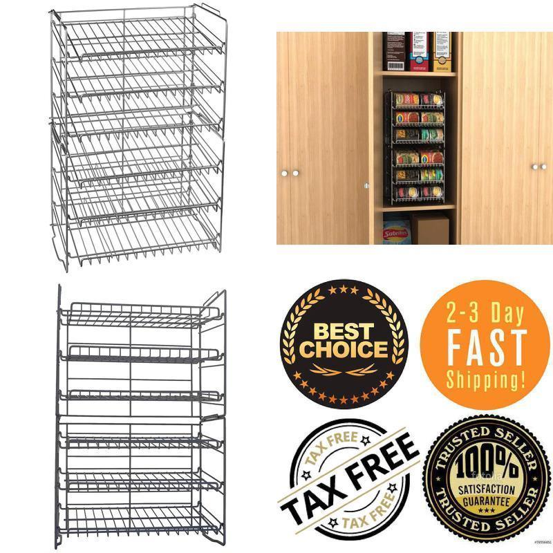 Food Can Rack Holder Kitchen Pantry Organizer Storage Shelves Beer Soda Durable 1