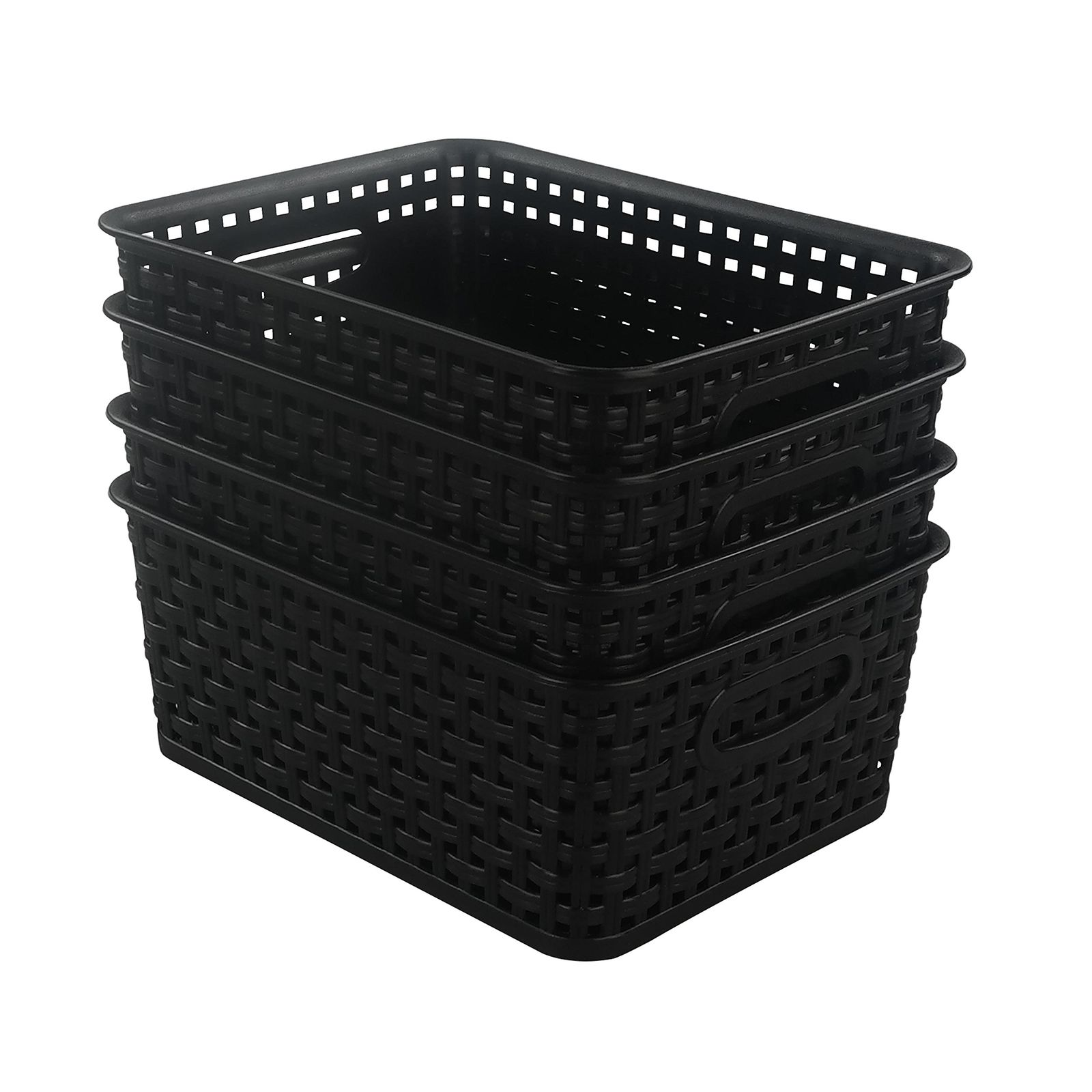 Morcte Plastic Storage Basket, Food Pantry Closet Shelves, Freezer Organizer 1