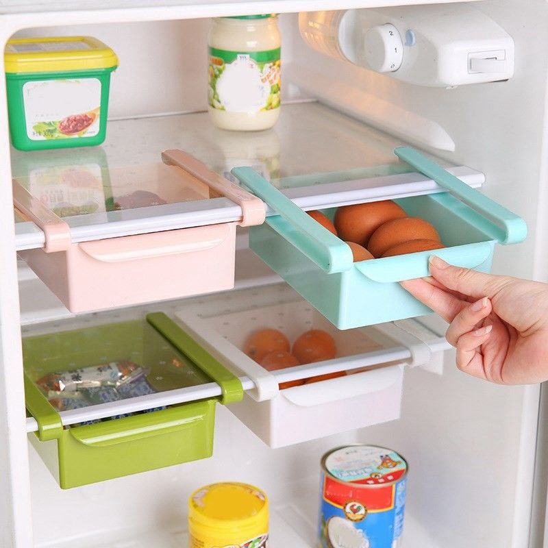 Refrigerator Storage Box Drawer Type Food Fresh Space Layer Kitchen Shelf Rack 1
