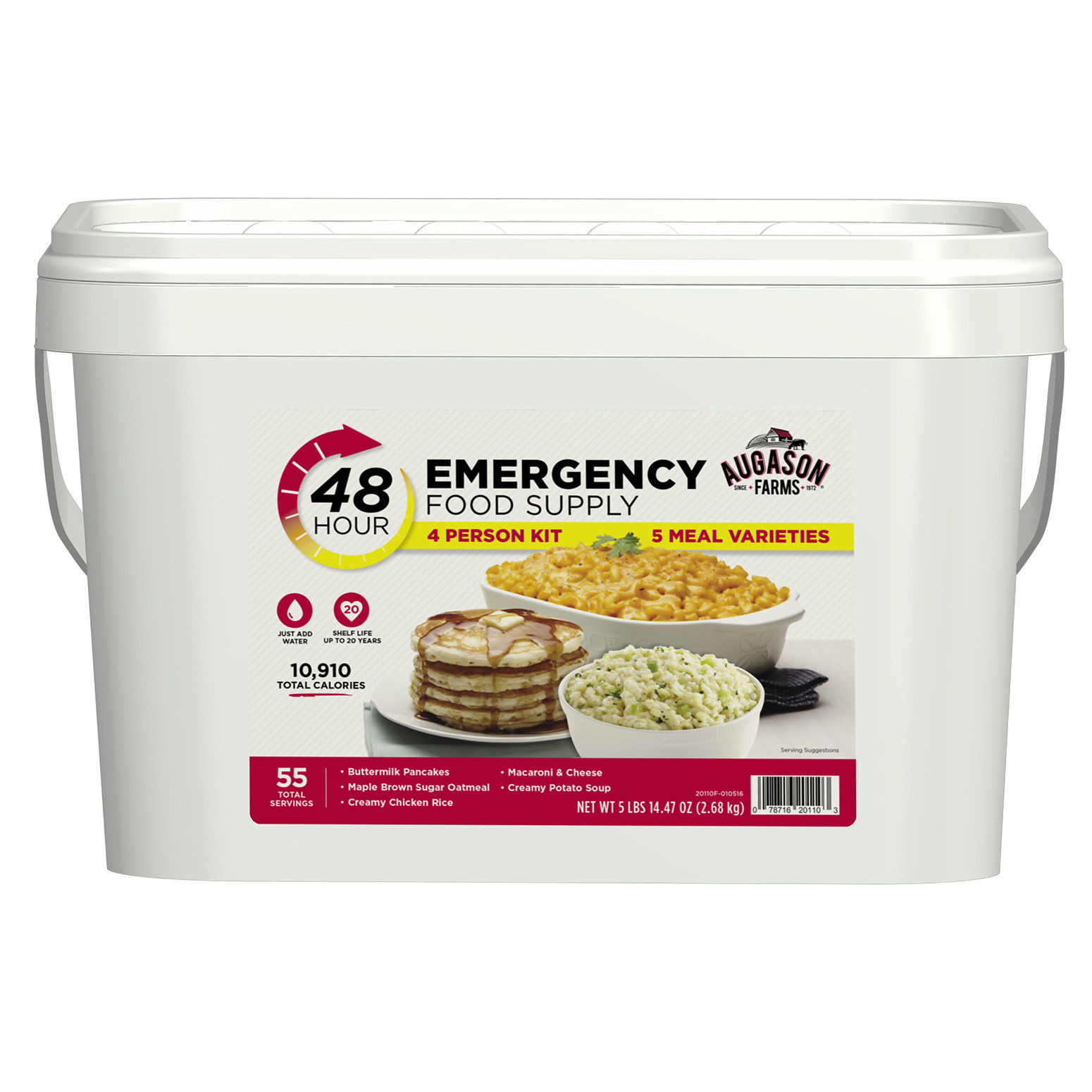 Emergency Food Supply 4 Person Kit 55 Serving Storage Survival Bucket Quick Meal 1
