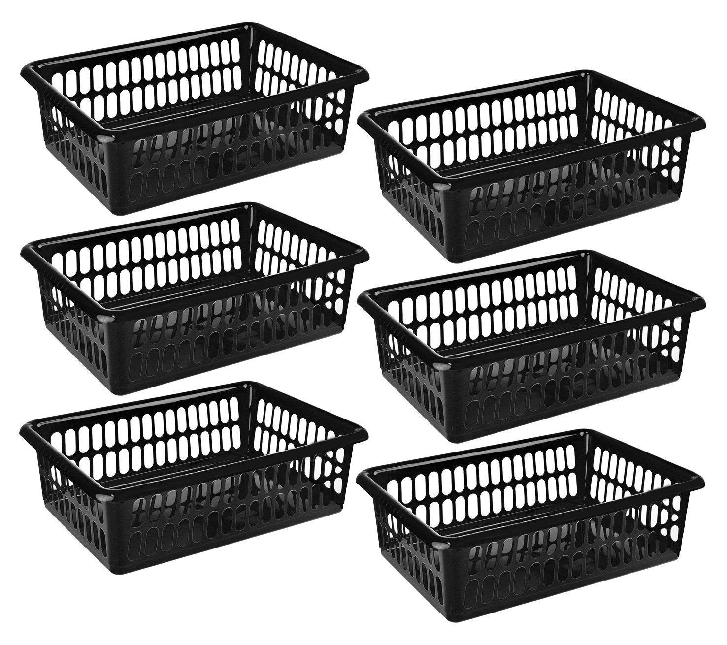 Zilpoo 6 Pack - Plastic Storage Organizing Baskets Food Pantry Closet Shelves... 1