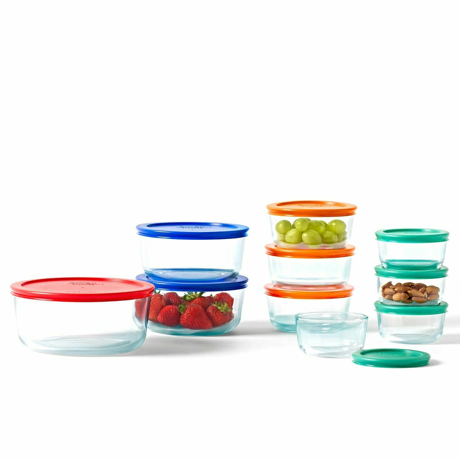 Pyrex 20 piece Glass Food Storage Containers Set Bowls with Lids 1