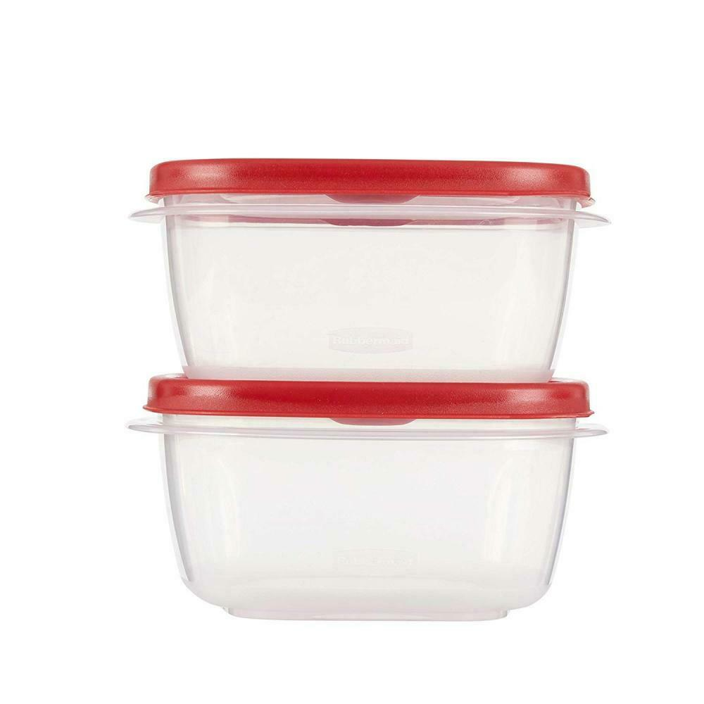 Rubbermaid Easy Find Lids Food Storage Containers, 5 Cup, Racer Red, 4-Piece... 1