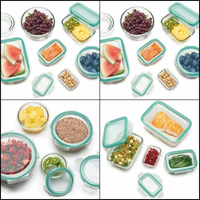 OXO Good Grips Smart Seal Leakproof Glass Round Food Storage Container 9