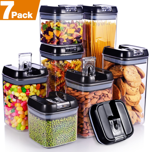 Senbowe [7-Piece] Air-Tight Food Storage Container Set with Durable Plastic,BPA 5