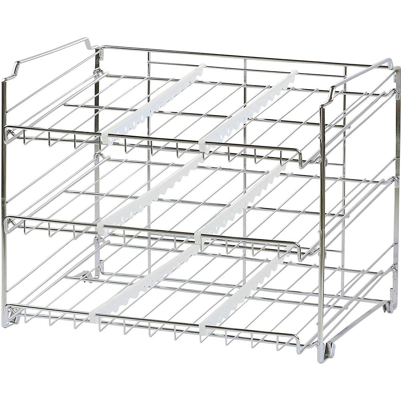 Can Storage Rack Soda Organizer Food Fridge Refrigerator Pantry Shelf Stackable 1