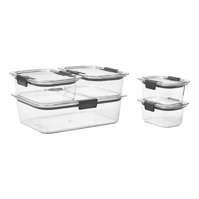 Rubbermaid Brilliance Leak-Proof Food Storage Containers Set of 5, BPA-Free, NEW 2