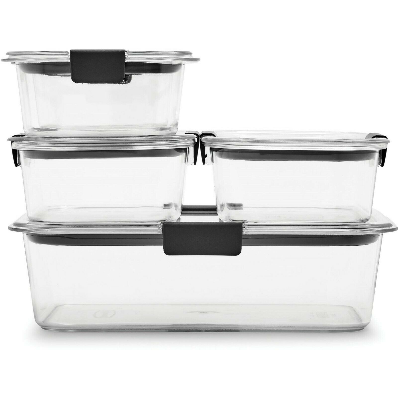 Rubbermaid Brilliance Leak-Proof Food Storage Containers with Airtight Lids NEW 1