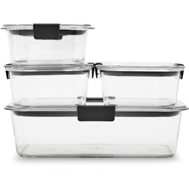 Rubbermaid Brilliance Leak-Proof Food Storage Containers with Airtight Lids NEW 4