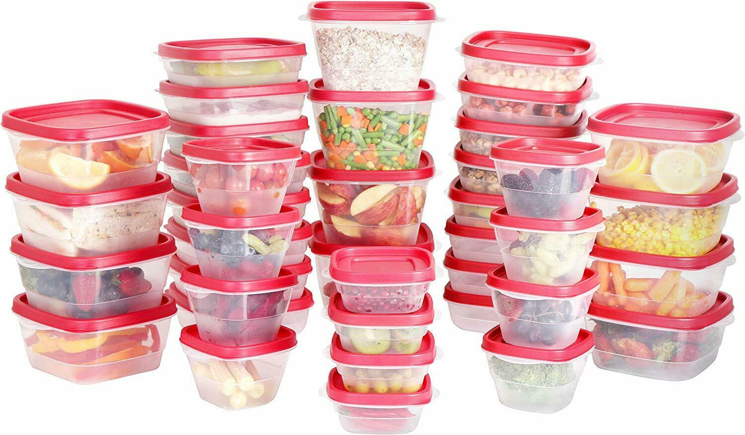 Plastic Food Storage Containers 80 Piece Set 40 Container 40 Lids Utopia Kitchen 1