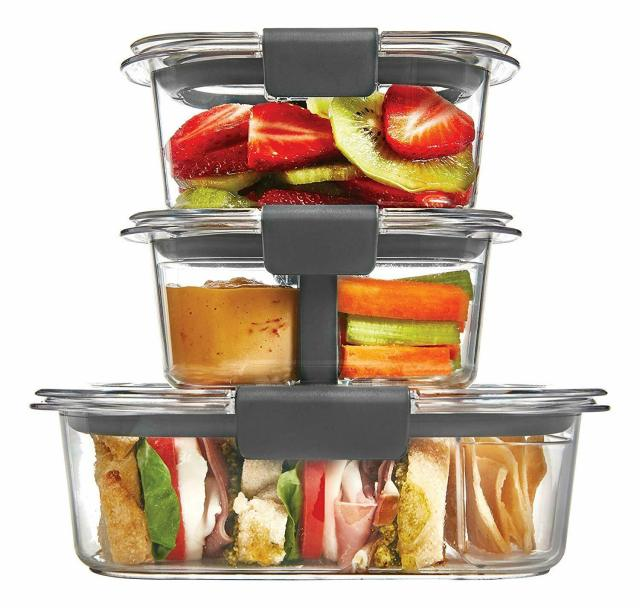 Rubbermaid Brilliance Food Storage Container Lunch Kit Clear 10-Piece Set 5