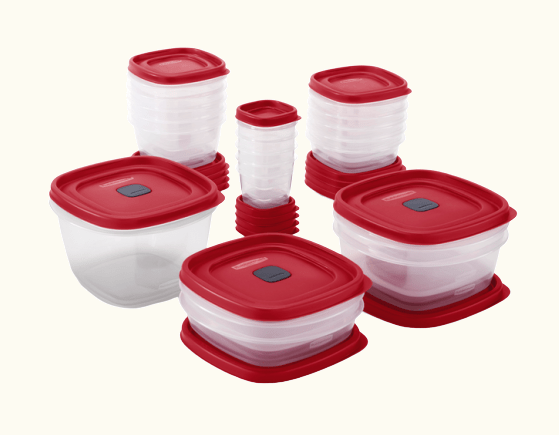 Rubbermaid Easy Find Vented Lids Food Storage Containers, 40-Piece Set 1