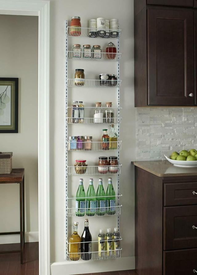 Adjustable Over the Door Storage Rack 8 Shelves Kitchen Pantry Food Organizer 5