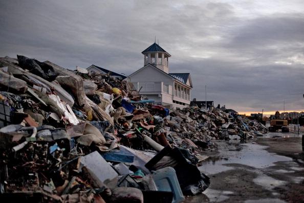 Debris in Long Branch, NJ, following Hurricane Sandy. (Allison Joyce, Getty Images)