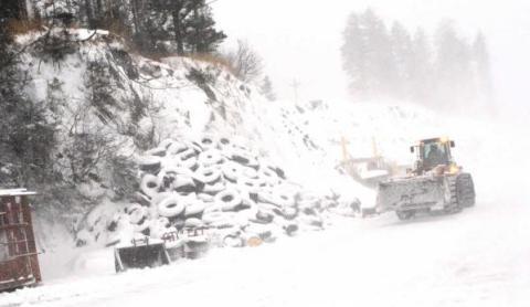 Kodiak's landfill in winter.