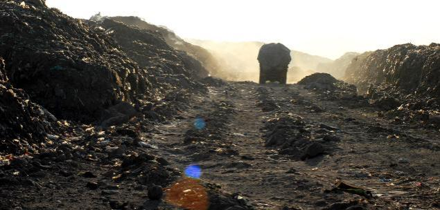 A view of the Perungudi dump yard in Chennai. File photo from The Hindu.