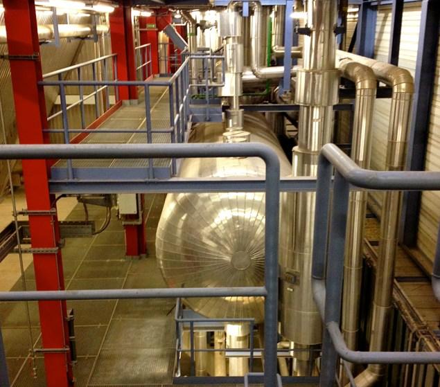 Waste-to-energy facility interior. Author's photo.