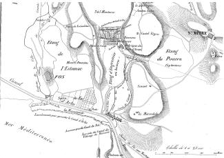 Map for the construction of a soda factory in Plan d'Aren near Fos-sur-mer, 1843 (photo X. Daumalin)
