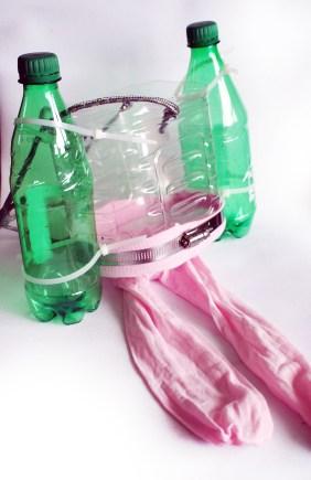 This version of BabyLegs has soda pop bottle pontoons.