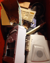 Typical dumpster fare: e-waste