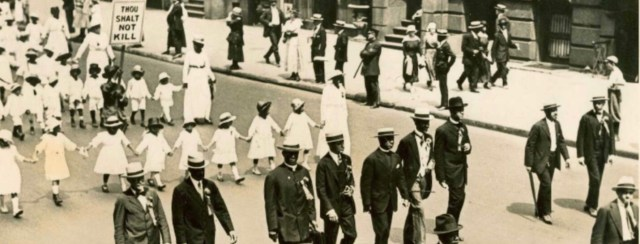 The 1917 Silent Parade in New York City