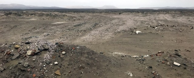dirt waste piles