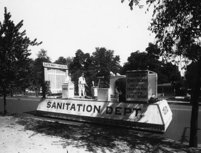 A float from the 1940s. Photo courtesy DSNY.