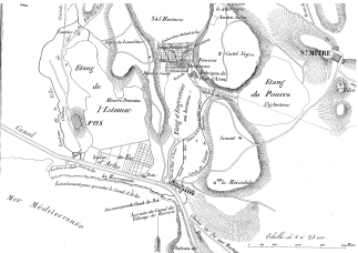 Map for the construction of a soda factory in Plan d'Aren near Fos-sur-mer, 1843 (photo X. Daumalin)