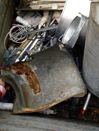 Typical dumpster fare: random metal parts